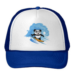 Trucker Hat with Cute Surfing Panda design