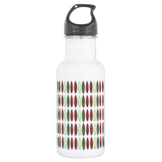 surfing patterning stainless steel water bottle