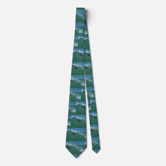 Surfing Pelican Bird Ocean Wave Beach California Tie