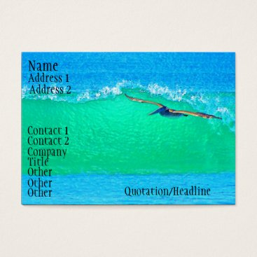 Professional Business Surfing Pelican Business Card