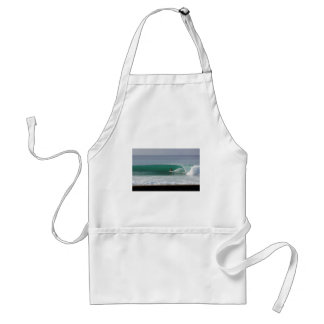 Surfing perfect green wave in tropical paradise aprons