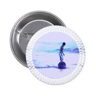 Surfing Photo Design Round Button