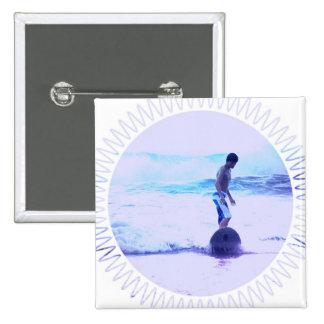 Surfing Photo Design Square Pin