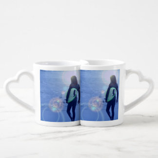 Surfing Couples' Coffee Mug Set