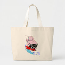 sUrFiNg PiG Large Tote Bag