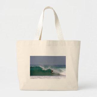 Surfing Puerto Escondido Mexico Canvas Bags