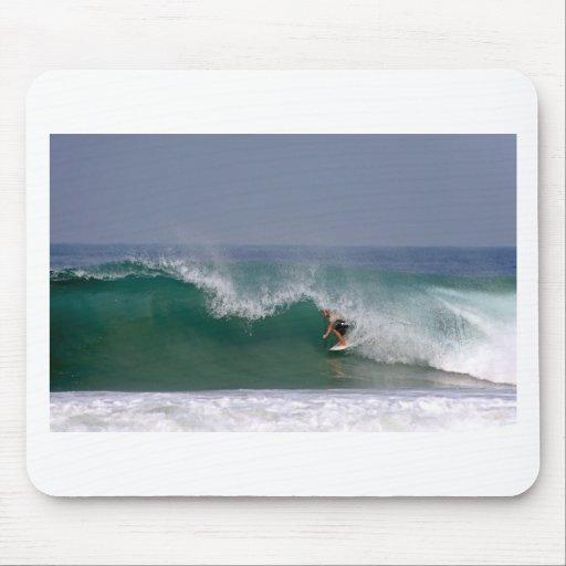 Surfing Puerto Escondido Mexico Mouse Pad