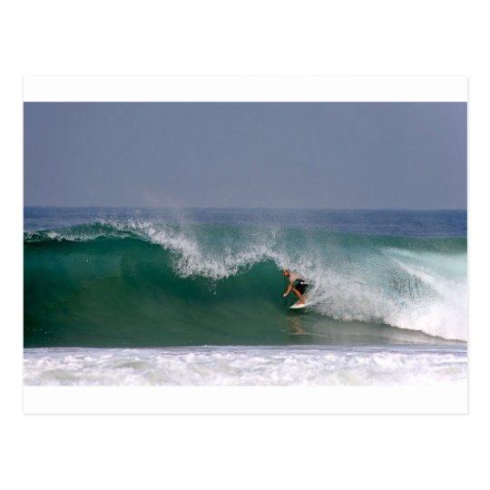 Surfing Puerto Escondido Mexico Postcard