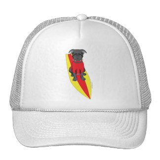 Surfing Pug Hat