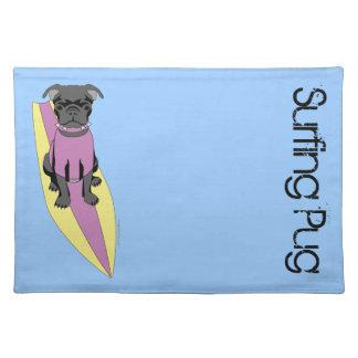Surfing Pug (Pastel) Placemat