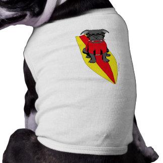 Surfing Pug Pet Clothing