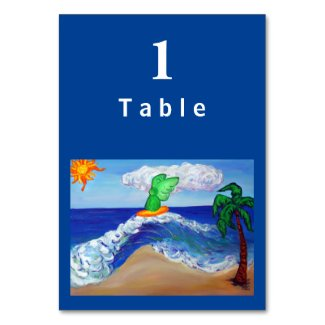 Surfing Raphael Angel Custom Table Cards