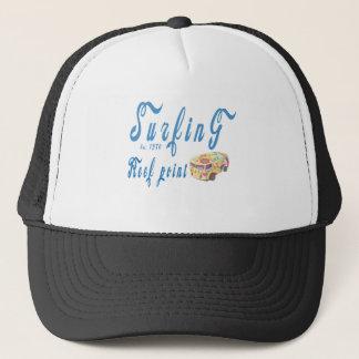 Surfing reef point trucker hat