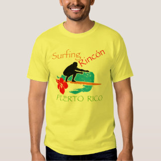 Surfing Rincón, PR Tee Shirts