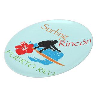 Surfing Rincón, Puerto Rico Plate