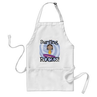 Surfing Rocks African American Girl Tshirts Aprons
