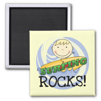 Surfing Rocks - Blond Boy Tshirts and Gifts Refrigerator Magnets