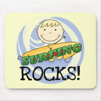 Surfing Rocks - Blond Boy Tshirts and Gifts Mouse Pad