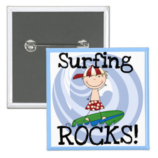 Surfing Rocks Boy in Baseball Cap Tshirts and Gift Buttons