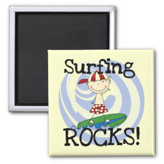 Surfing Rocks Boy in Baseball Cap Tshirts and Gift Fridge Magnets