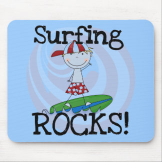Surfing Rocks Boy in Baseball Cap Tshirts and Gift Mouse Pad