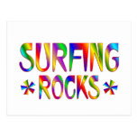 Surfing Rocks Post Card