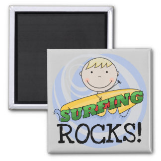 Surfing Rocks Tshirts and Gifts Fridge Magnets