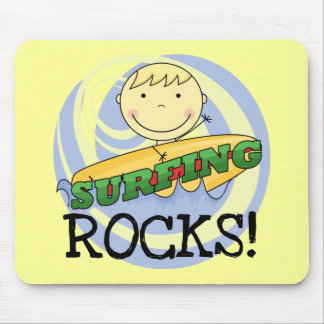 Surfing Rocks Tshirts and Gifts Mouse Pads