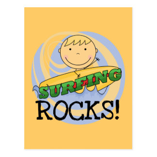 Surfing Rocks Tshirts and Gifts Postcard