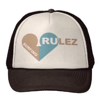 surfing rulez trucker hat
