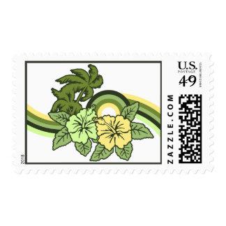 Surfing Safari Hawaiian Retro Postage Stamps