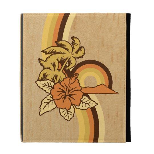 Surfing Safari Hawaiian Surfboard iPad Folio iPad Folio Cases
