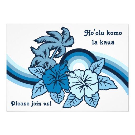 Surfing Safari Luau & BBQ Invitations