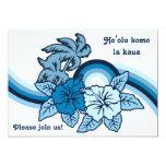 "Surfing Safari Luau & BBQ Invitations 5"" X 7"" Invitation Card"