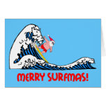 Surfing Santa Cards