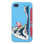surfing Santa Case For iPhone 4