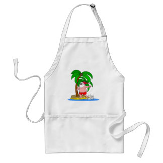 surfing Santa Claus Adult Apron
