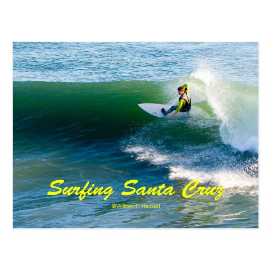Surfing Santa Cruz California Products Postcard