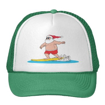Christmas Themed Surfing Santa Hat