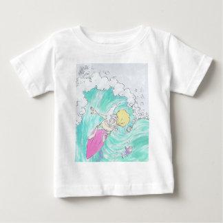 Surfing Santa, infant t-shirt. Baby T-Shirt