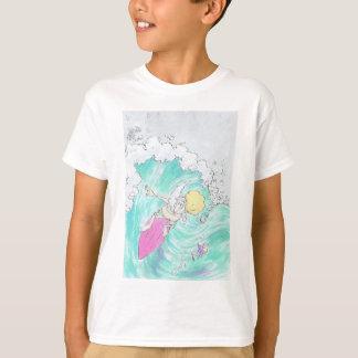 Surfing Santa, on a t-shirt. T-Shirt
