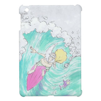 Surfing santa on an ipad mini. case for the iPad mini