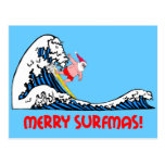 Surfing Santa Post Cards