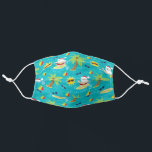 """Surfing Santa Tropical Christmas Adult Cloth Face Mask<br><div class=""""desc"""">Santa is surfing for Christmas.</div>"""