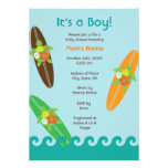 Surfing Sea Turtle Baby Shower or Birthday Invitat Invitations