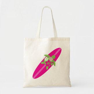 Surfing Sea Turtle Bag - Pink