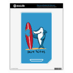 Surfing Shark Valentine Decal For The NOOK Color