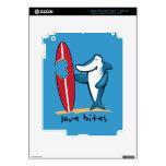Surfing Shark Valentine iPad 3 Skin