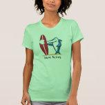 Surfing Shark Valentine Shirt