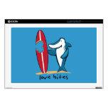 "Surfing Shark Valentine Skin For 17"" Laptop"